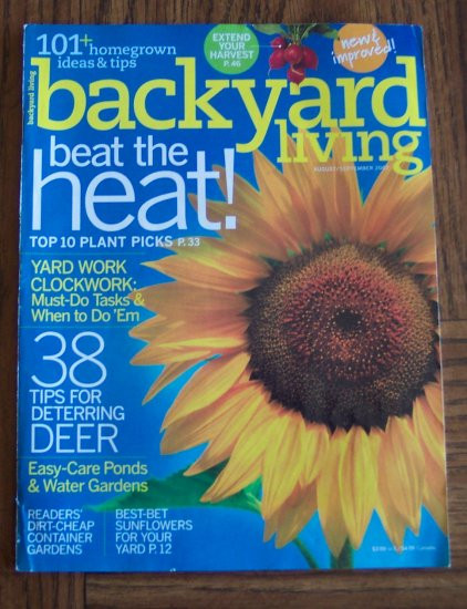 Backyard Living Magazine  Backyard living magazine back issues