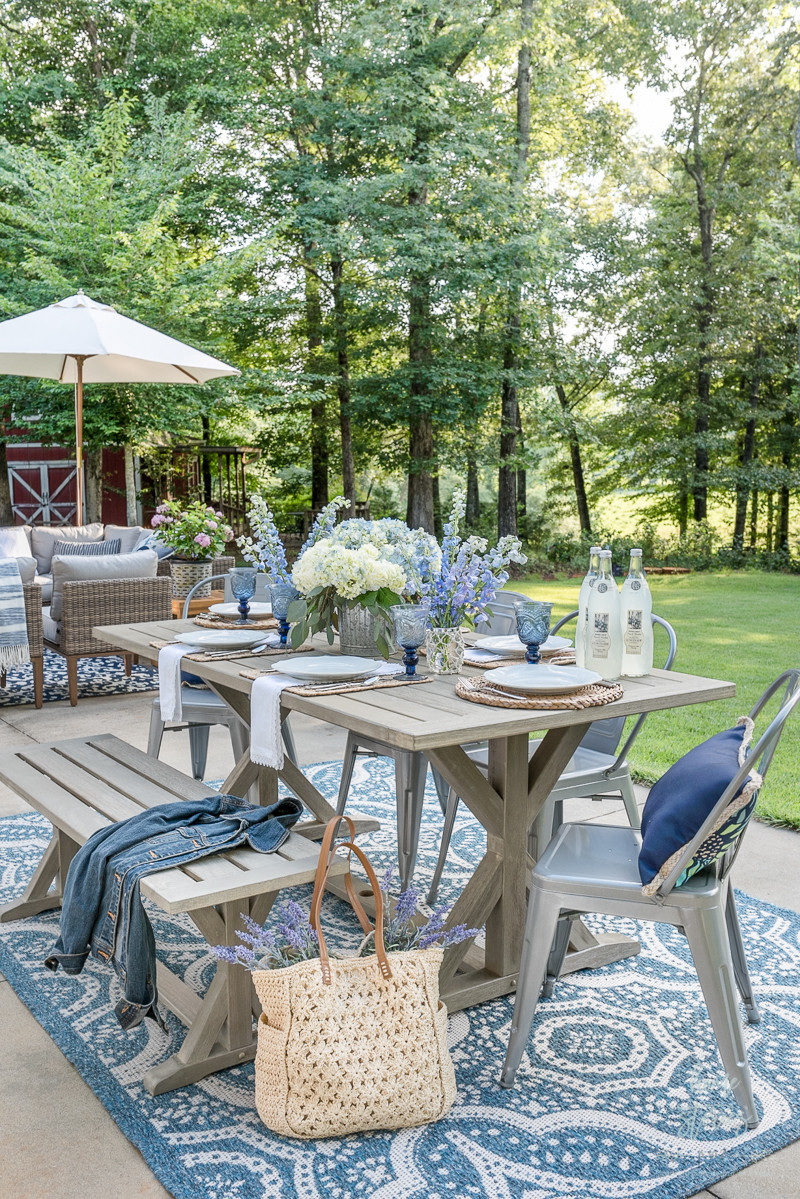 Backyard Table Ideas  My Affordable Patio Furniture and Outdoor Decorating Tips