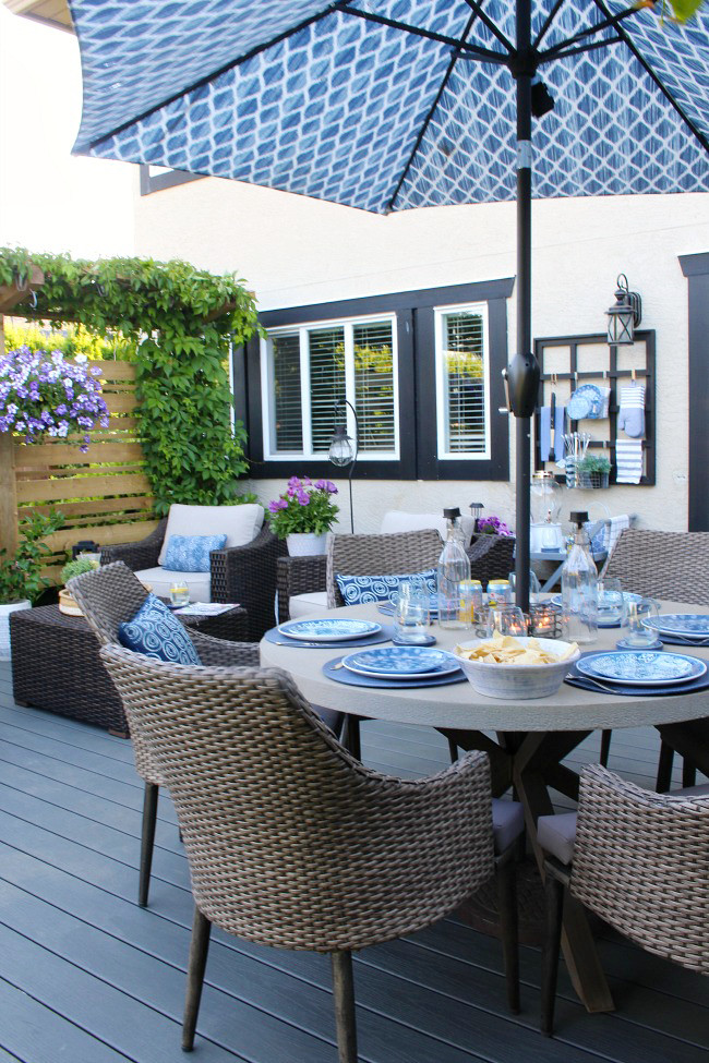 Backyard Table Ideas  Outdoor Living Summer Patio Decorating Ideas Clean and