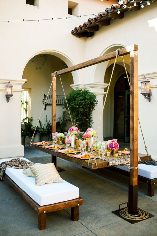 Backyard Table Ideas  20 Unique Outdoor Furniture Ideas That Will Make You Say WOW