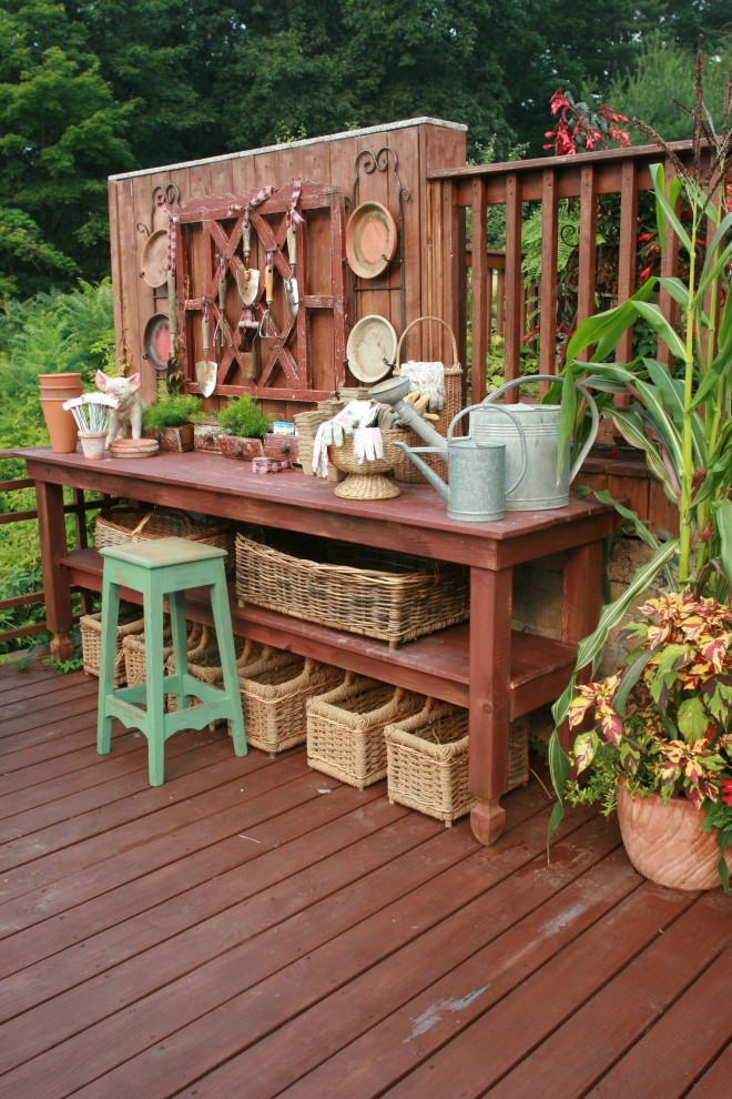 Backyard Table Ideas  Pretty Potting Tables For Spring Sprucing Your Home