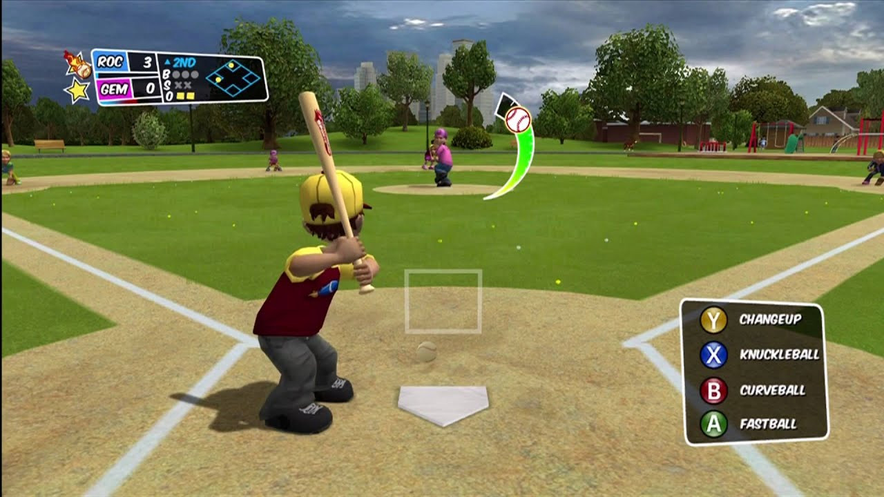 "Backyard Video Games  Backyard Baseball 2010 Xbox 360 ""Well OK then fielders"