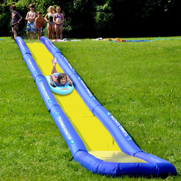 Backyard Water Slides For Sale  Shop RAVE Sporst Turbo Chute Backyard Water Slide Package