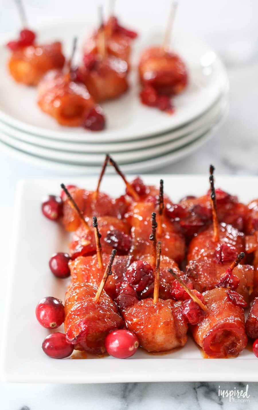 Bacon Wrapped Appetizers Recipe  Cranberry Bacon Wrapped Water Chestnuts delicious recipe