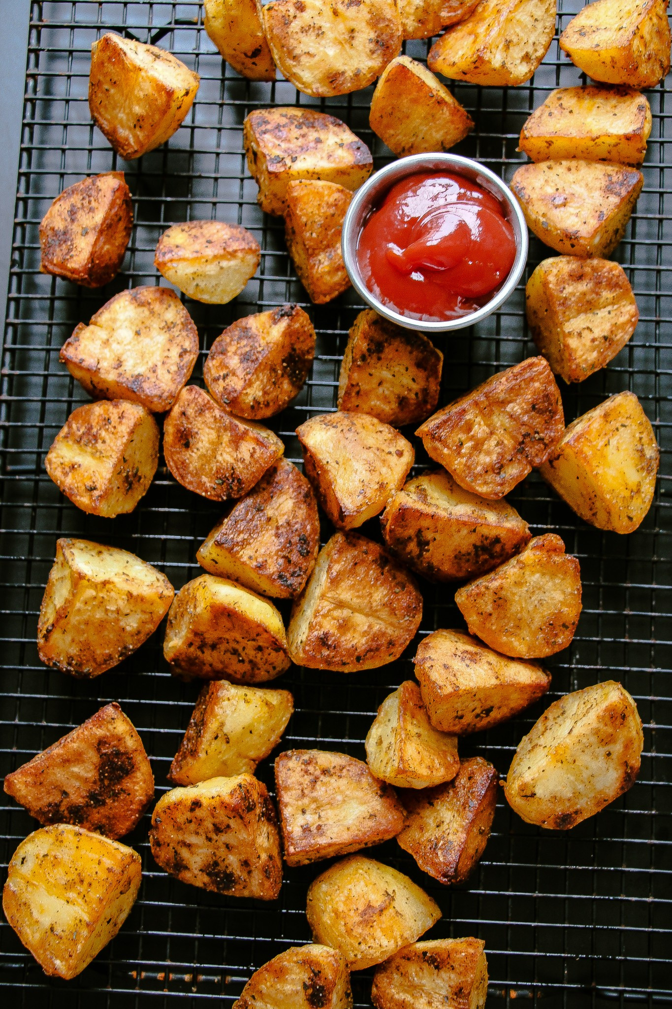Baked Potato Recipe Oven  Extra Crispy Oven Roasted Potatoes Layers of Happiness