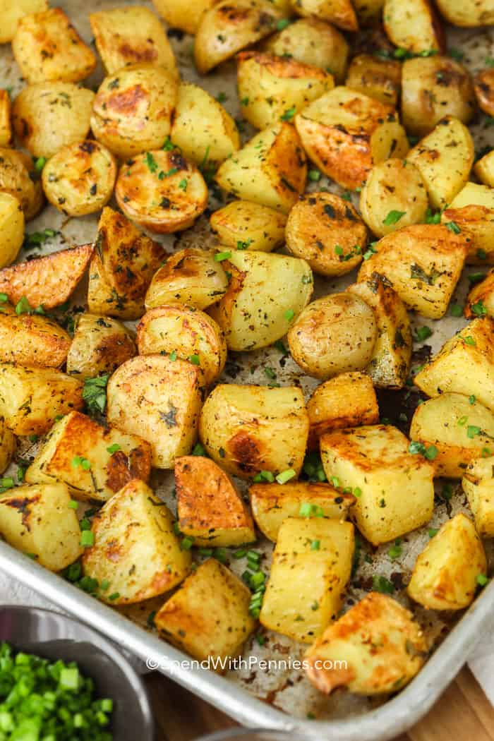Baked Potato Recipe Oven  Easy Oven Roasted Potatoes Easy to Make  Spend With