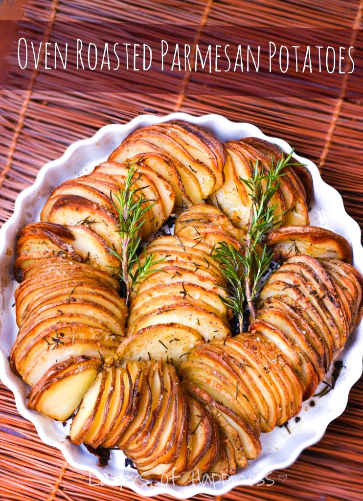 Baked Potato Recipe Oven  Easy Oven Roasted Parmesan Potatoes Layers of Happiness