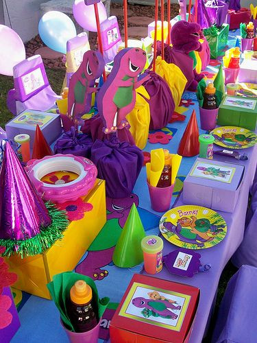Barney Birthday Party Decorations  30 best images about Barney Party Ideas on Pinterest