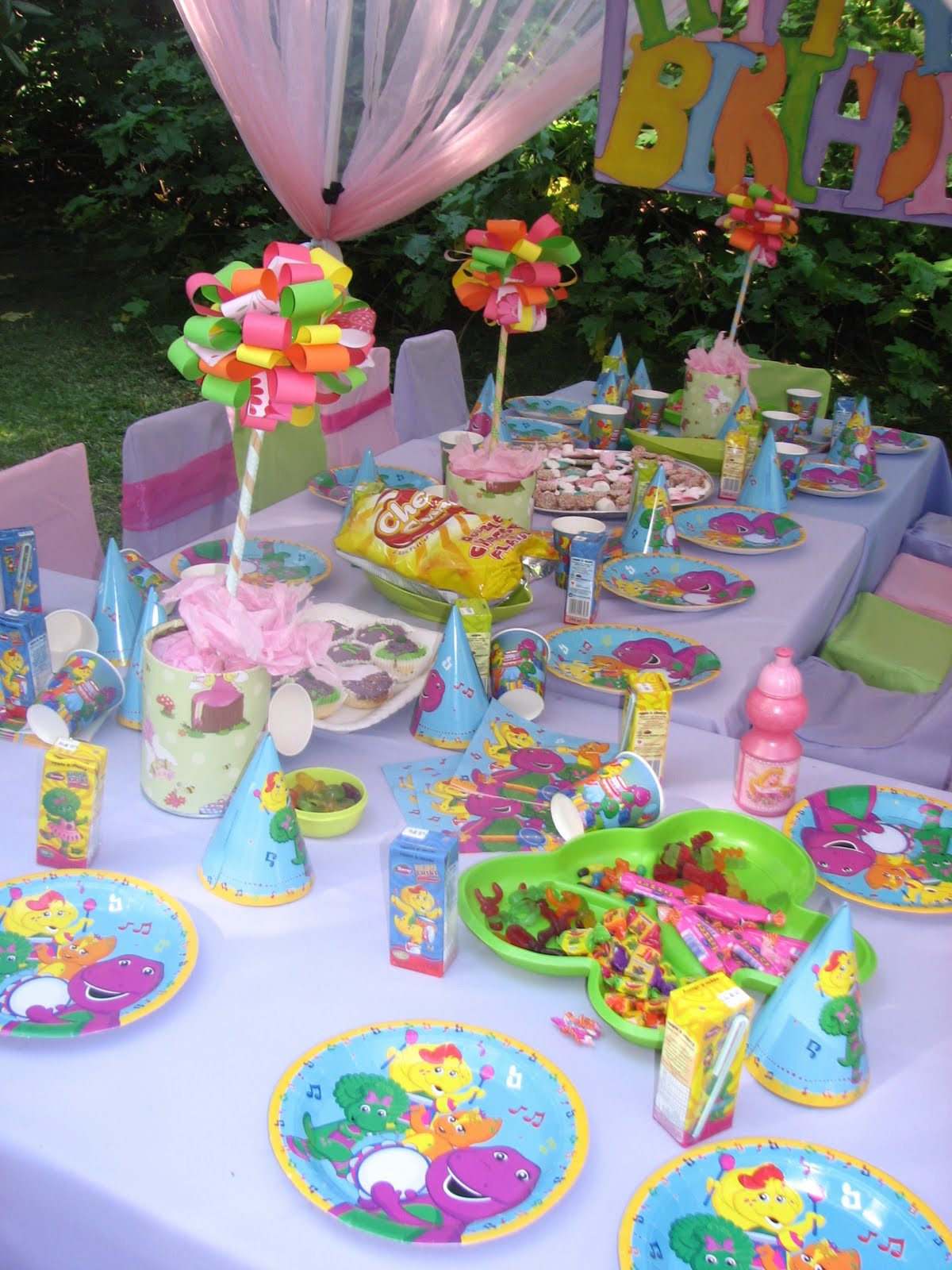Barney Birthday Party Decorations  GLITTERING GATHERINGS BARNEY PARTY