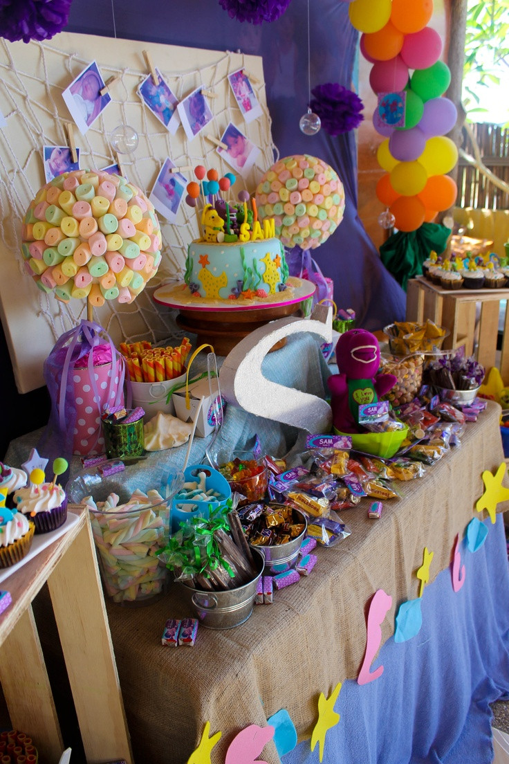 Barney Birthday Party Decorations  Under the sea Barney diy party ideas decorations
