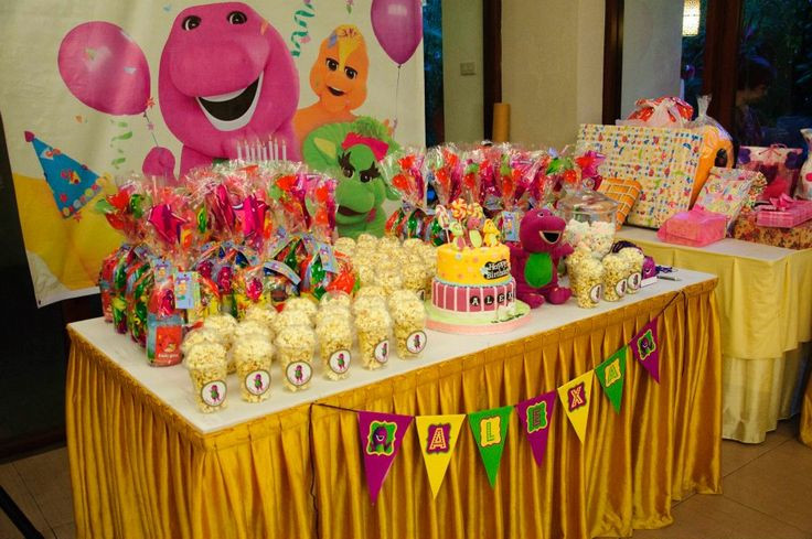 Barney Birthday Party Decorations  barney themed party ideas Liam s B day Party