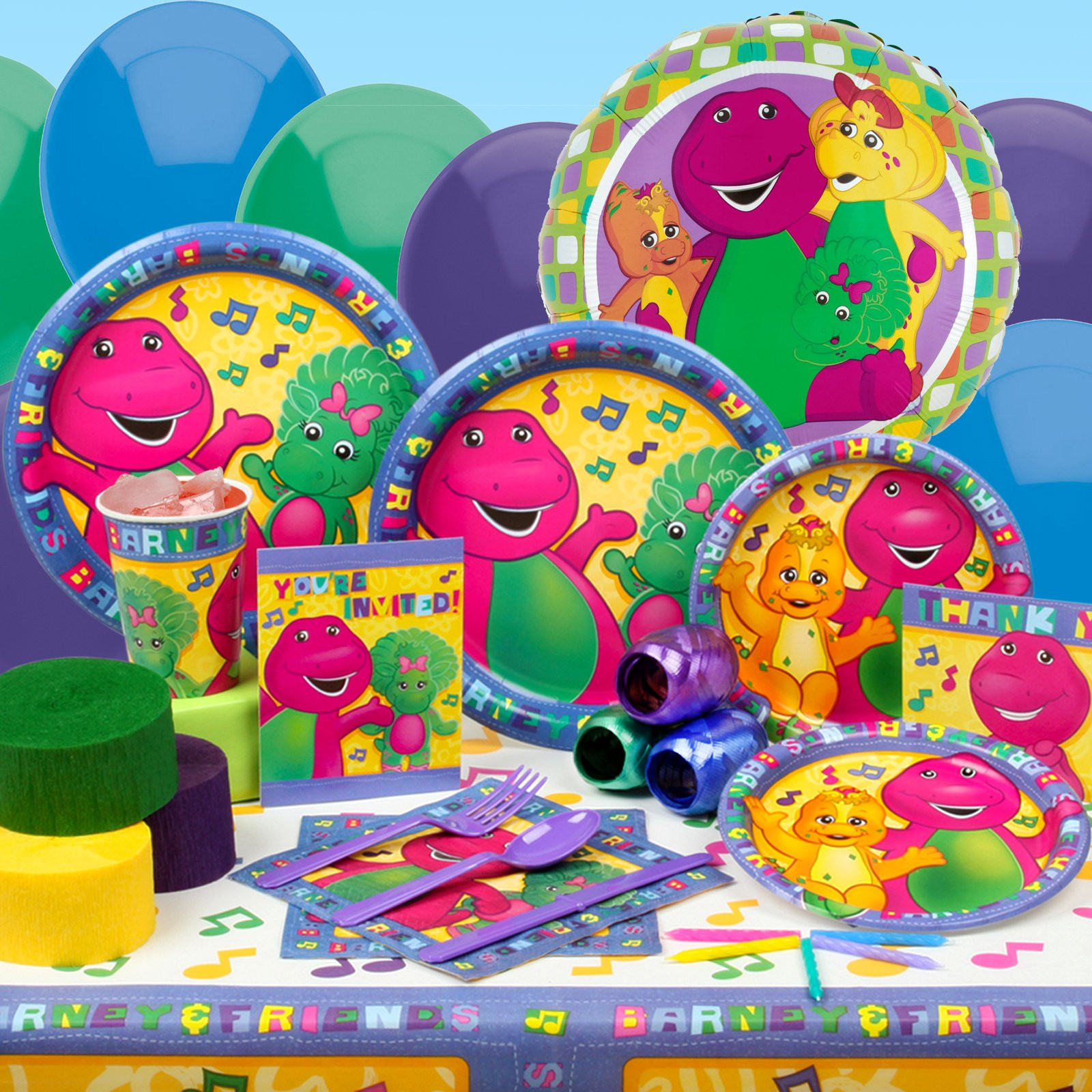 Barney Birthday Party Decorations  FavorCakes by Erica Where the Hell is Barney