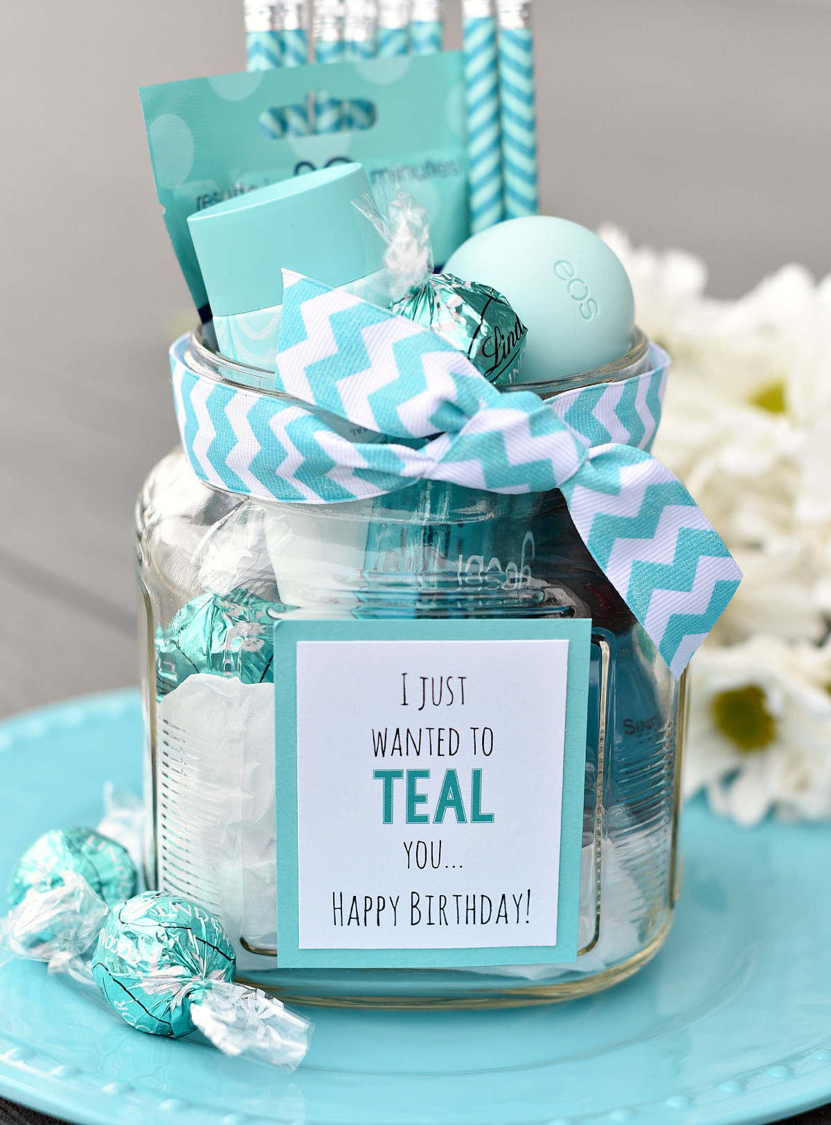 Bday Gift Ideas For Best Friend  Teal Birthday Gift Idea for Friends – Fun Squared