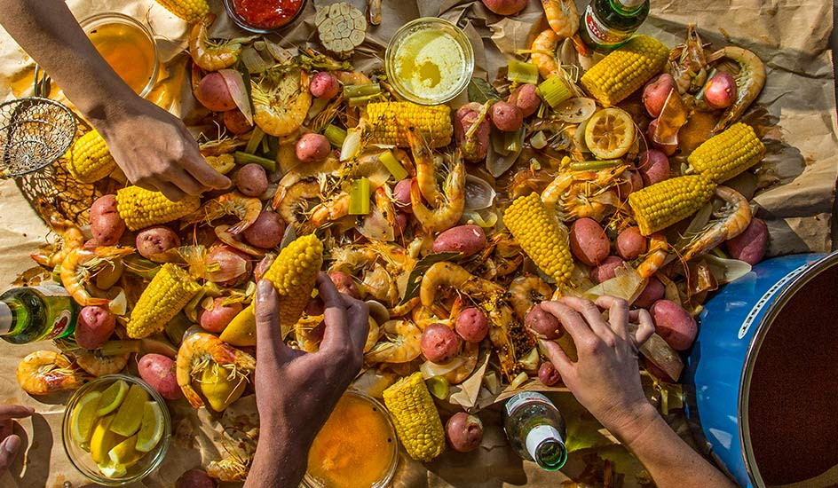 Beach Party Food Menu Ideas  Holiday Beach Party and Low Country Boil