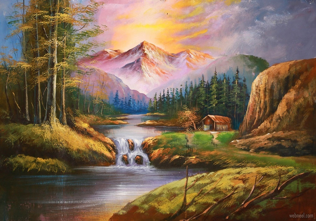 Beautiful Landscape Paintings  20 Beautiful Landscape Oil Paintings and art works from