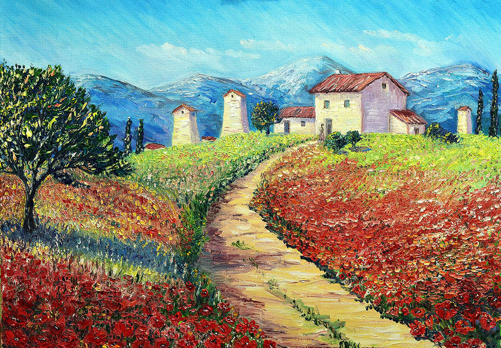 Beautiful Landscape Paintings  How to paint a beautiful landscape in oil or acrylic