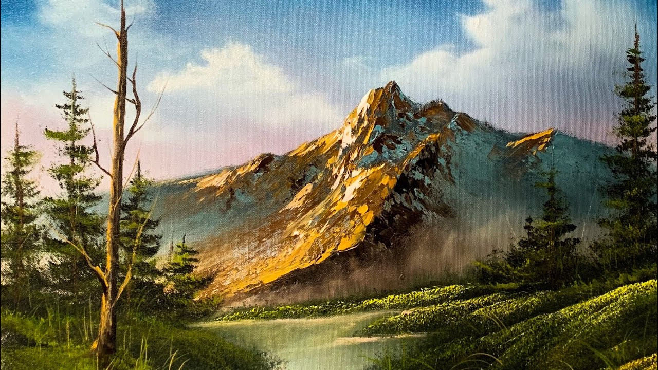 Beautiful Landscape Paintings  How To Paint A Beautiful Mountain Landscape In Oil