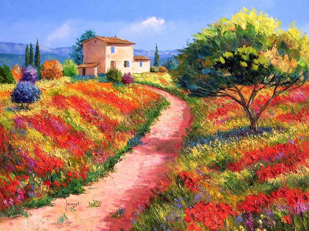 Beautiful Landscape Paintings  Sharing The World To her Jean Marc Janiaczyk Landscape