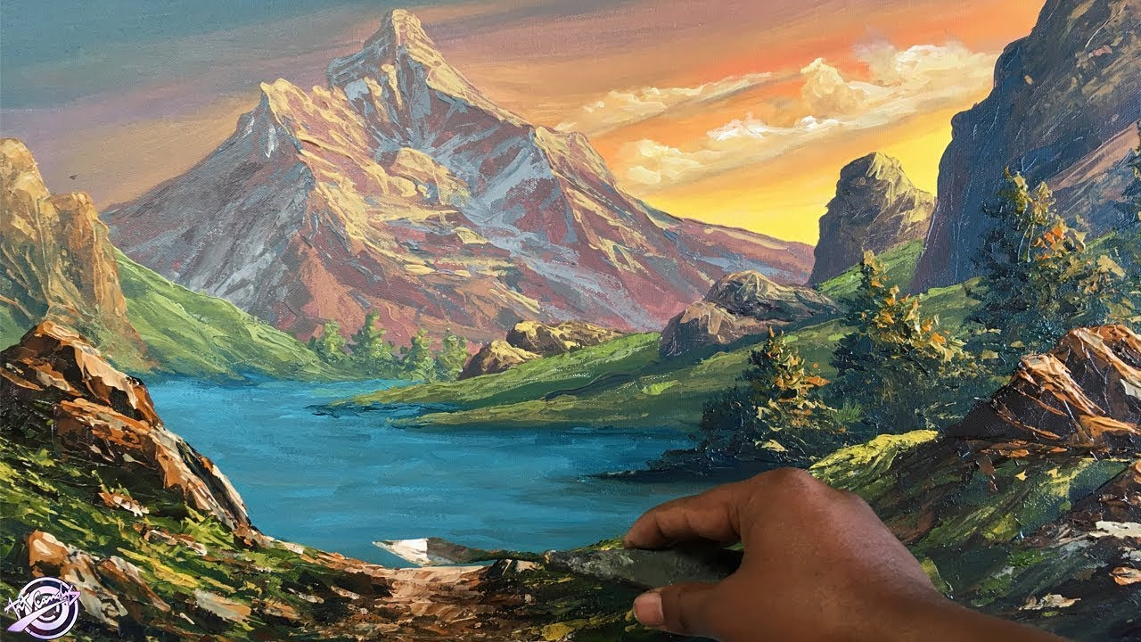 Beautiful Landscape Paintings  How To Make A Beautiful Scenery Painting