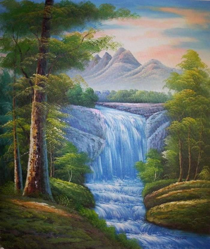 Beautiful Landscape Paintings  Artist Hand Painted High Quality Natural Scenery Oil