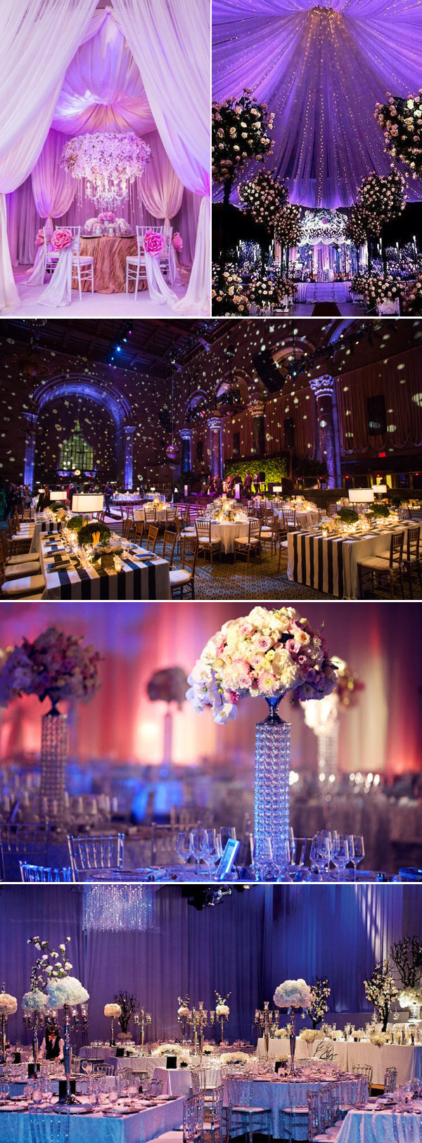 Beautiful Wedding Themes  Luxury Indoor Wedding Concept With Beautiful Color Ideas