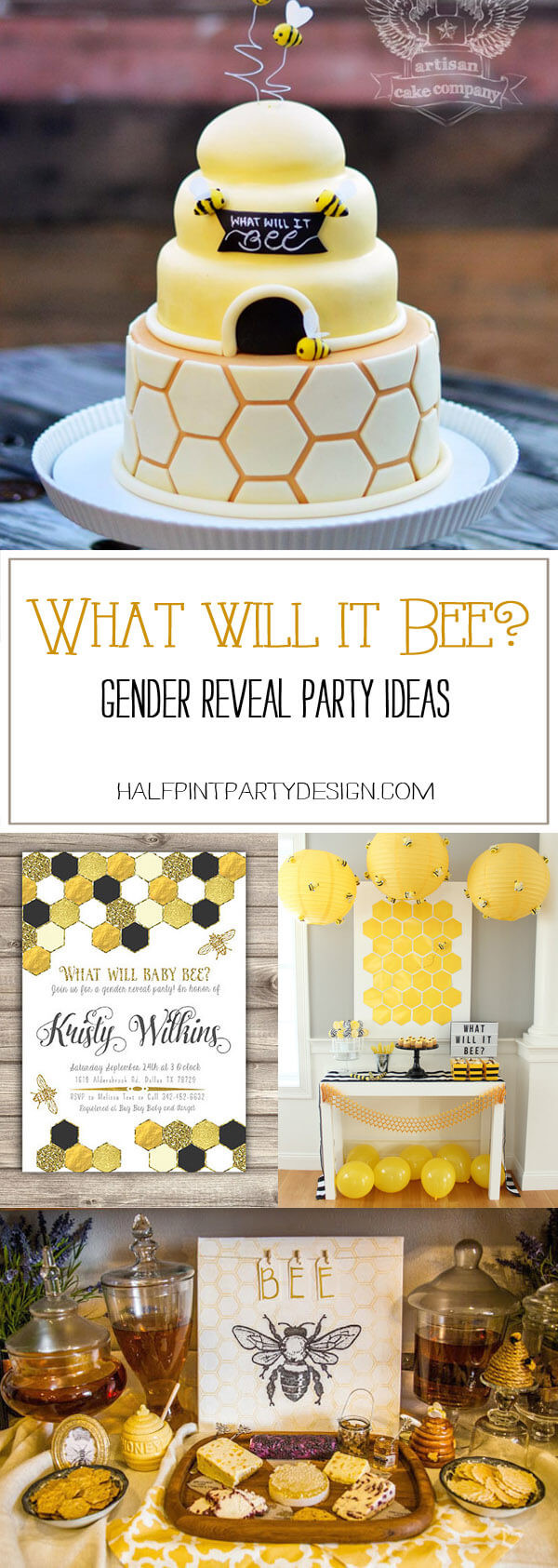 Bee Gender Reveal Party Ideas  What Will it Bee Gender Reveal Party Ideas Halfpint