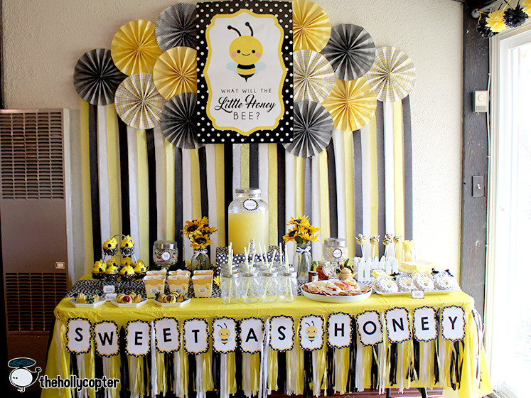 Bee Gender Reveal Party Ideas  What Will It Bee Gender Reveal Party – The Hollycopter