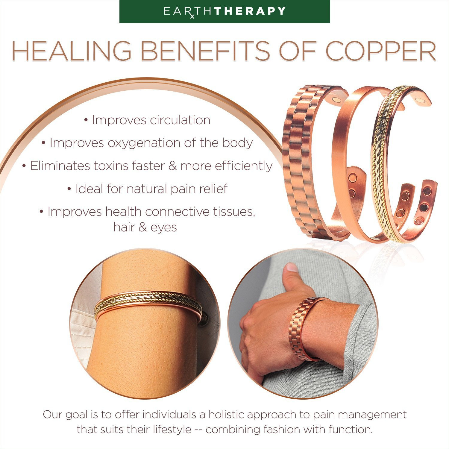 Benefits Of Magnetic Bracelets  Pure Copper Magnetic Bracelet – Earth Therapy