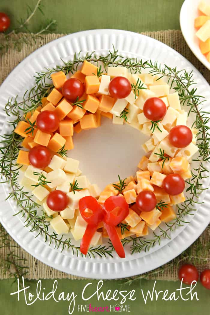 Best Christmas Party Appetizers  Holiday Cheese Wreath • FIVEheartHOME