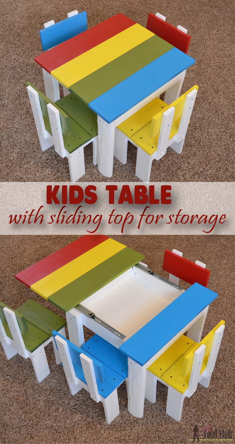 Best Kids Table  Simple Kid s Table and Chair Set Her Tool Belt