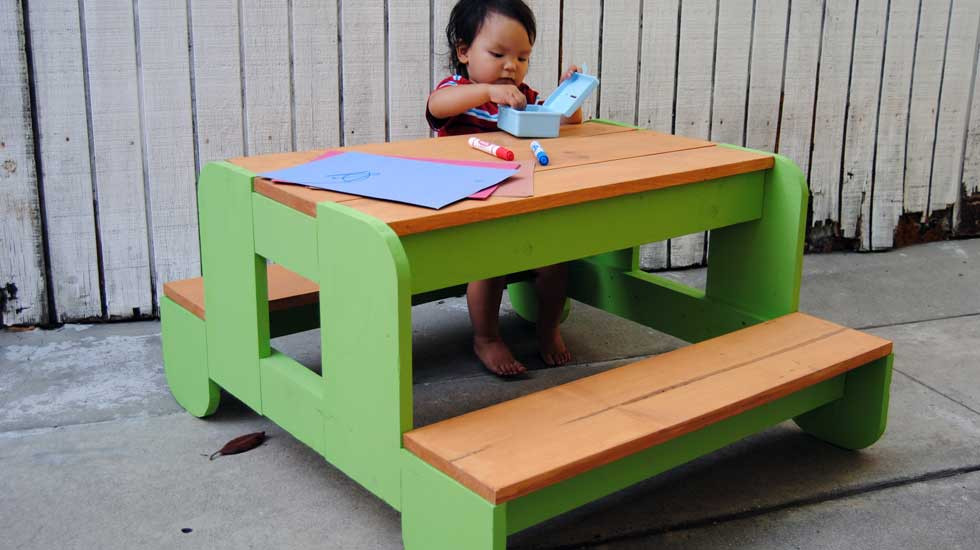 Best Kids Table  How to Build a Kids Picnic Table