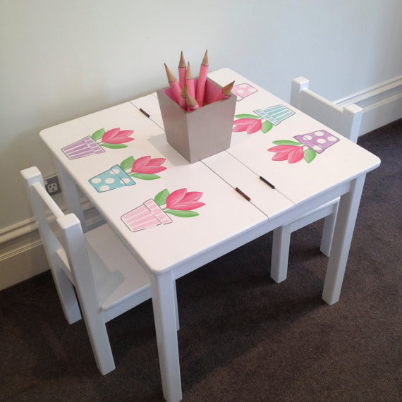 Best Kids Table  Items similar to Desk and Chair Set Tulip Table and