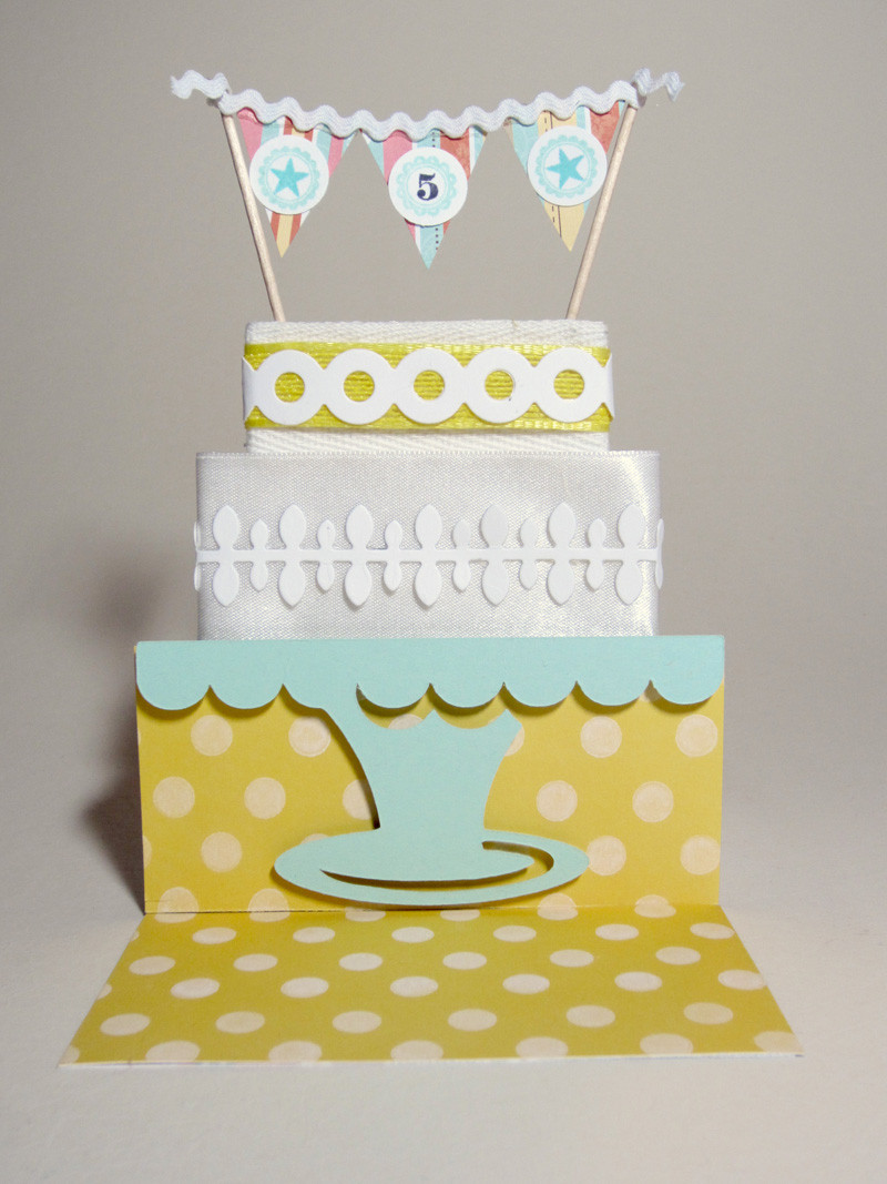 Birthday Cake Cards  Notable Nest Birthday Cake Banner Card [PTI Blog Hop]