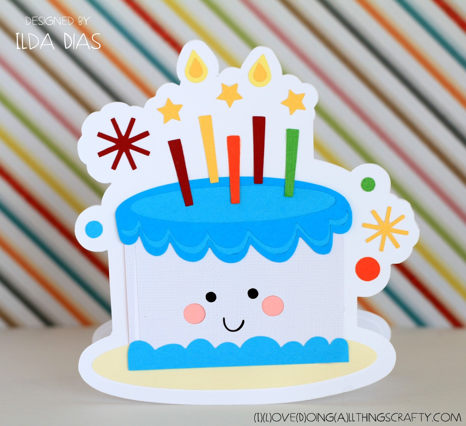 Birthday Cake Cards  I Love Doing All Things Crafty Happy Birthday Cake Shaped