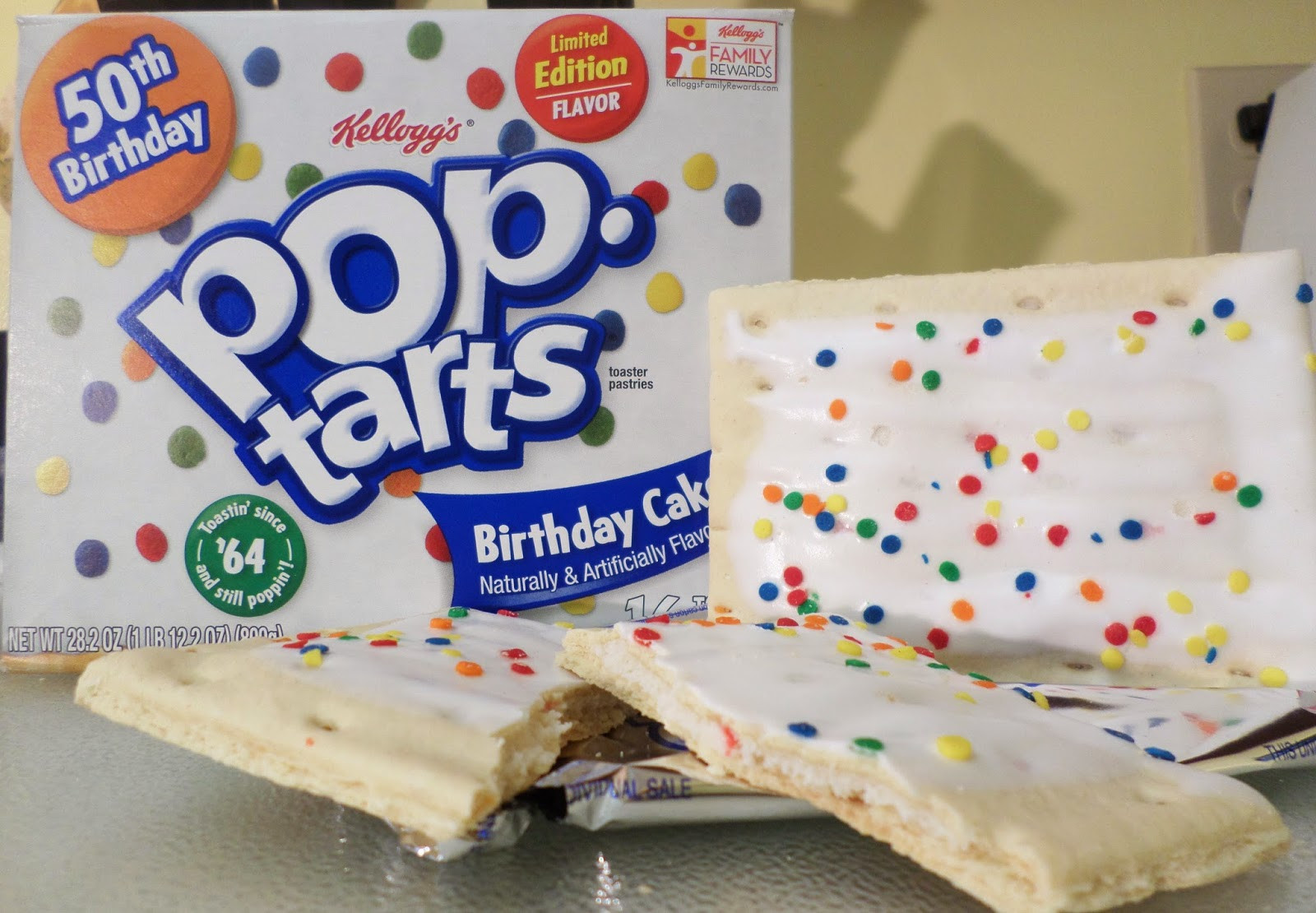 Birthday Cake Pop Tarts  Peanut Butter and Awesome Review Limited Edition