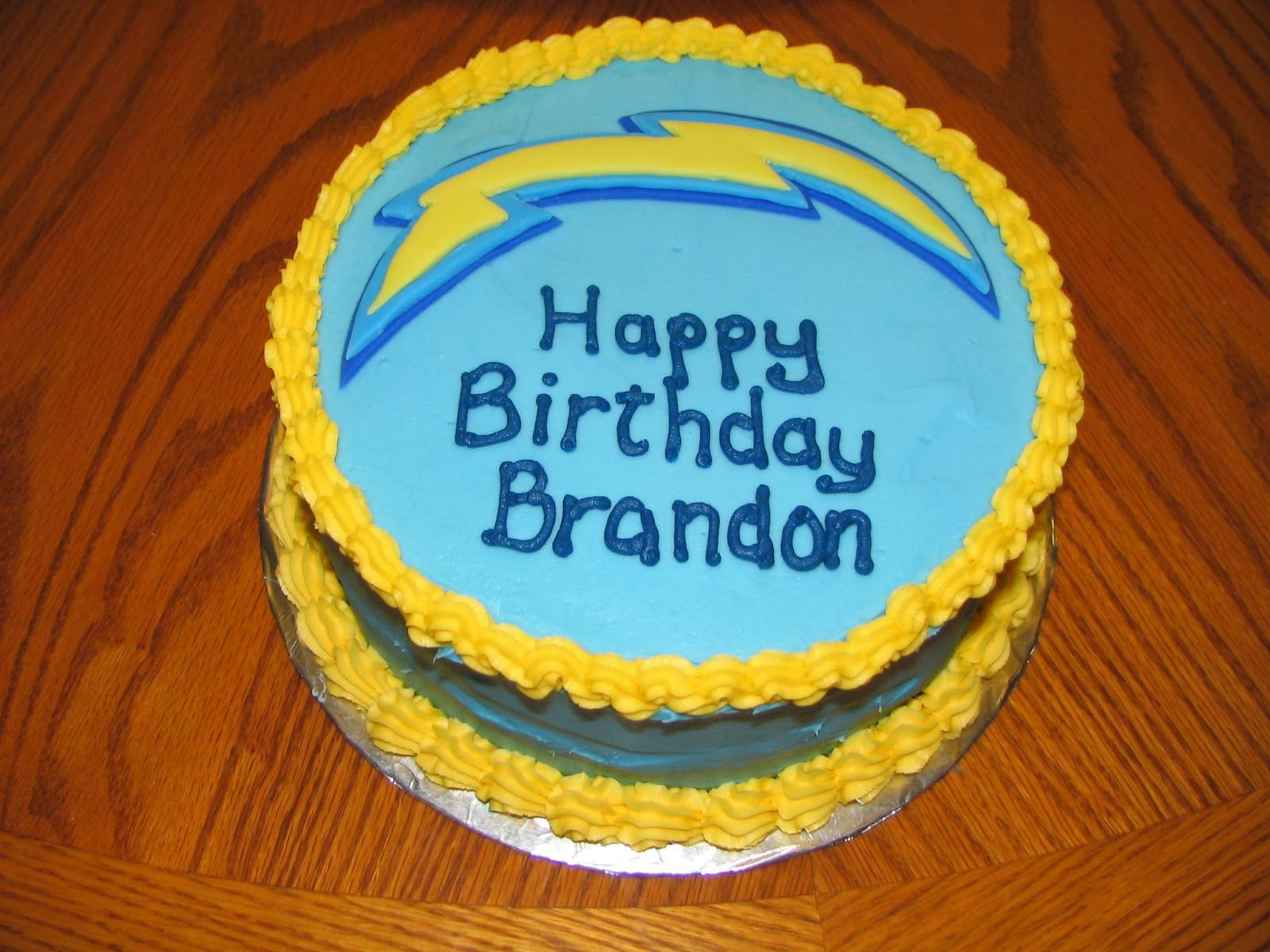 Birthday Cakes San Diego  San Diego Chargers cake by Janet Clark Piped Dreams