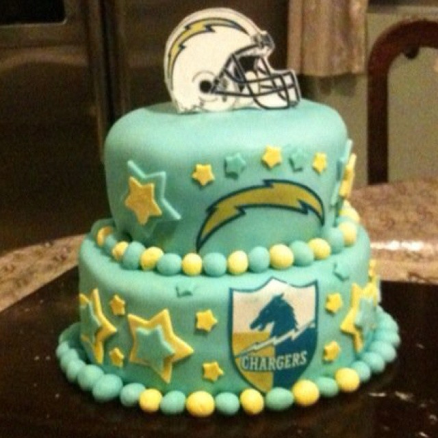 Birthday Cakes San Diego  47 best images about San Diego Chargers Cakes on Pinterest