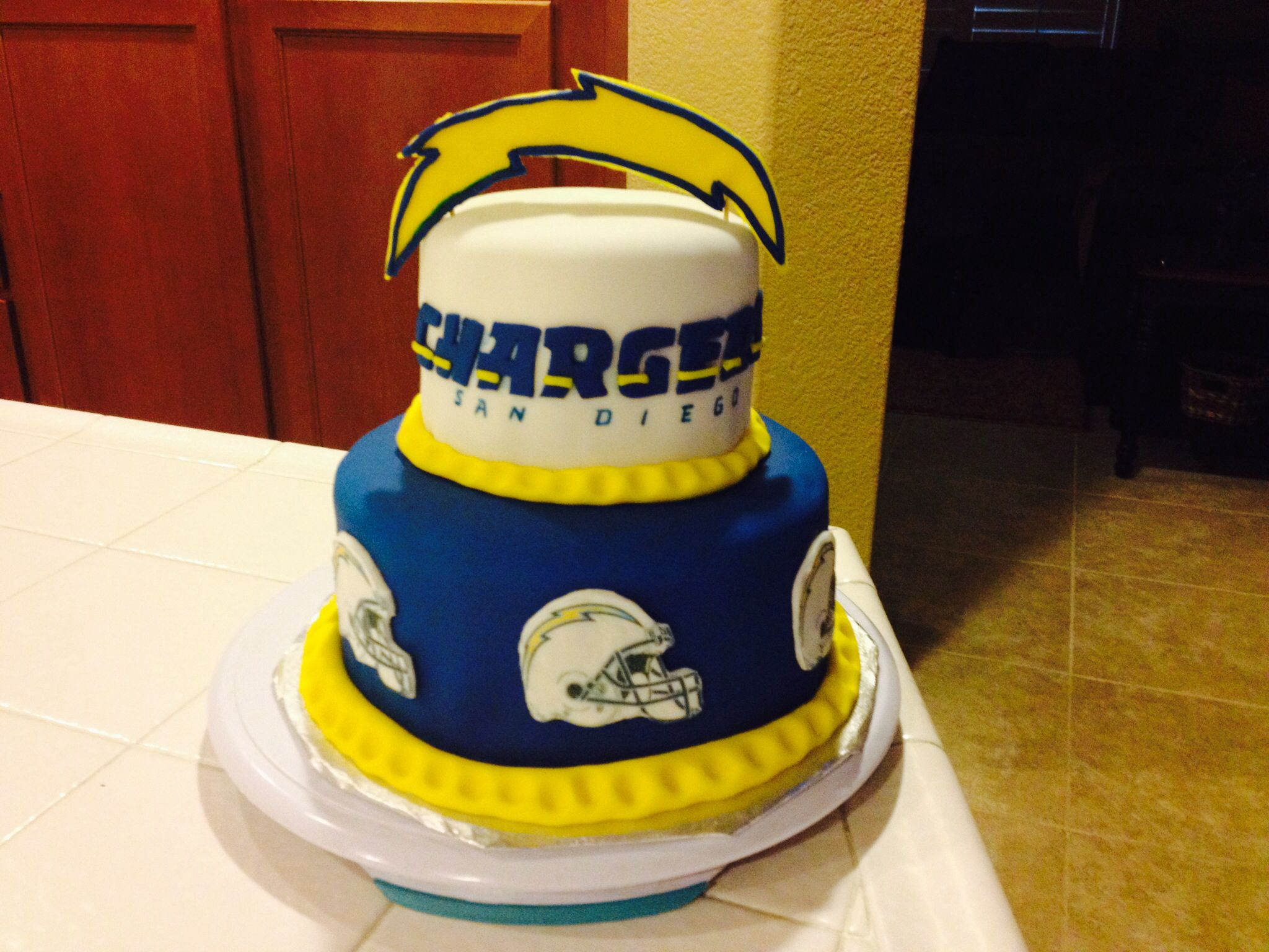 Birthday Cakes San Diego  Chargers cake Sports cakes