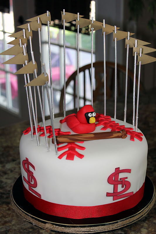 Birthday Cakes St Louis  Crae s Creations St Louis Cardinals Cake