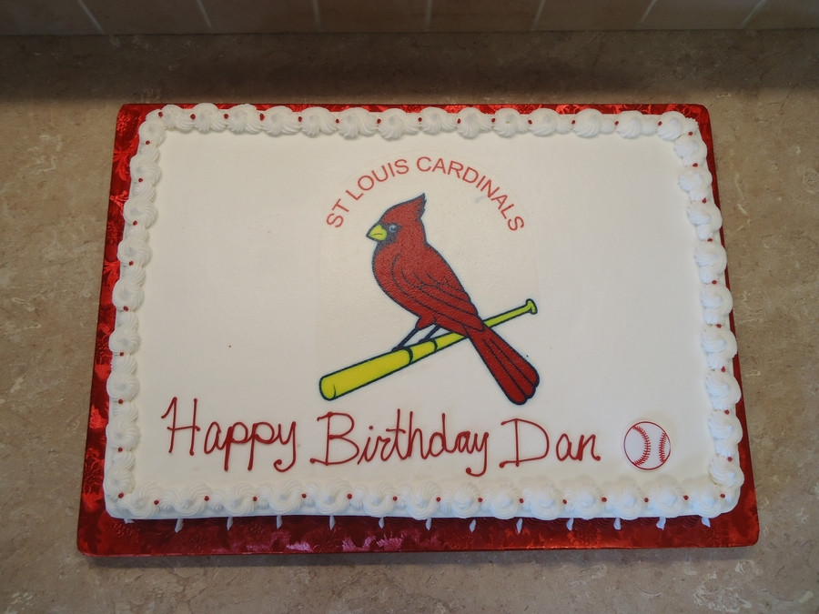 Birthday Cakes St Louis  St Louis Cardinals Birthday Cake CakeCentral