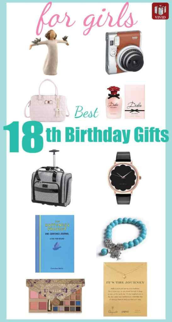 Birthday Gift Ideas For 18 Year Old Female  Best 18th Birthday Gifts for Girls Vivid s