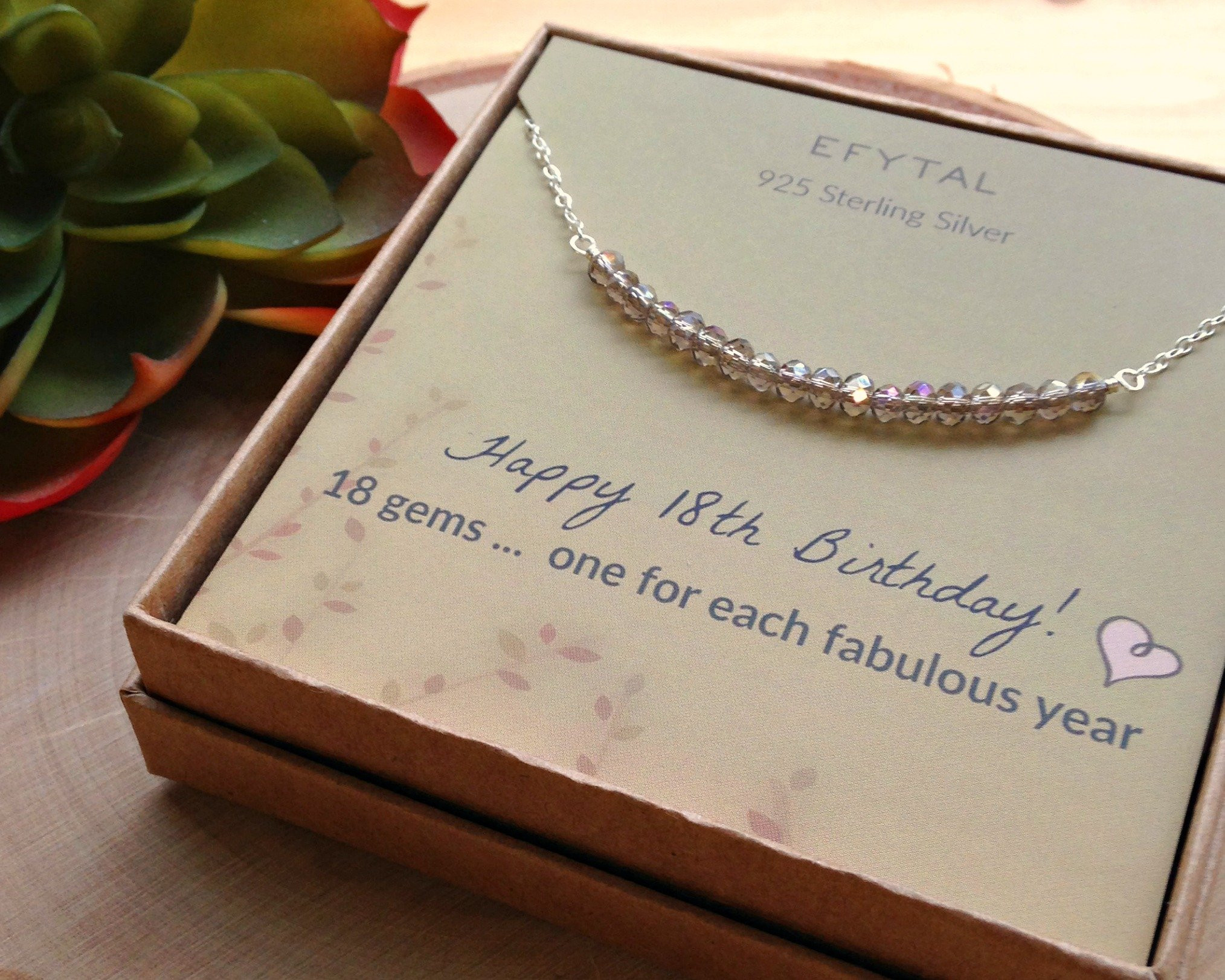 Birthday Gift Ideas For 18 Year Old Female  18th Birthday Gifts for Girls Sterling Silver Necklace