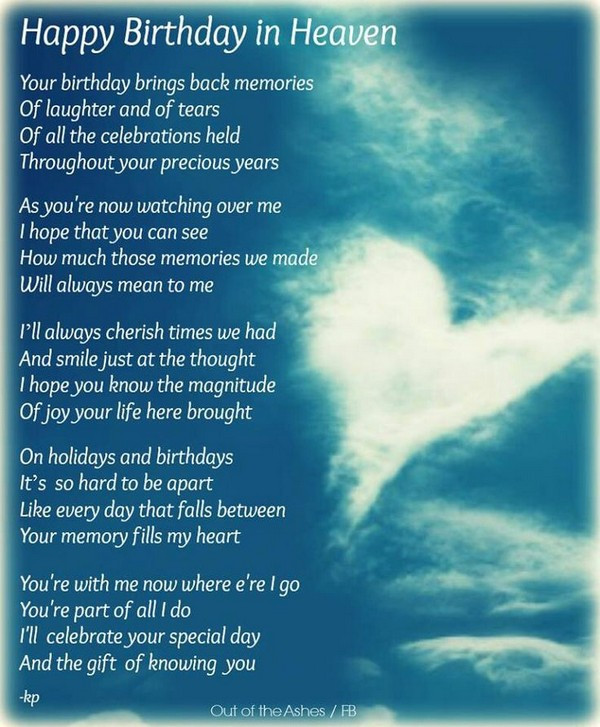 Birthday In Heaven Wishes  72 Beautiful Happy Birthday in Heaven Wishes My Happy