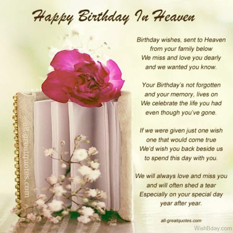 Birthday In Heaven Wishes  11 Birthday Wishes For Someone Heaven
