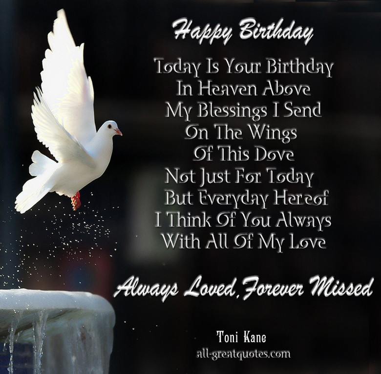 Birthday In Heaven Wishes  Happy Birthday Quotes for People in Heaven