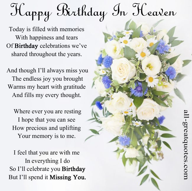 Birthday In Heaven Wishes  heavenly birthday wishes on Pinterest