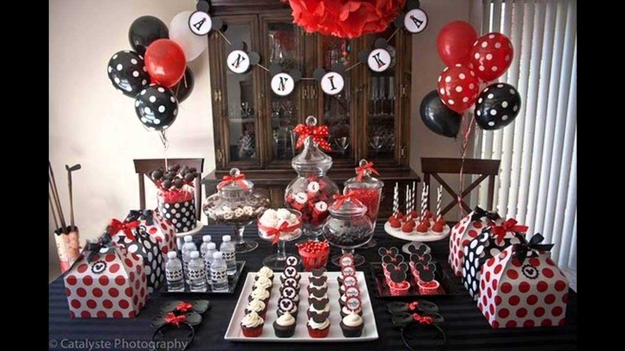 Birthday Party Decor  Cool Mickey mouse birthday party decorations ideas
