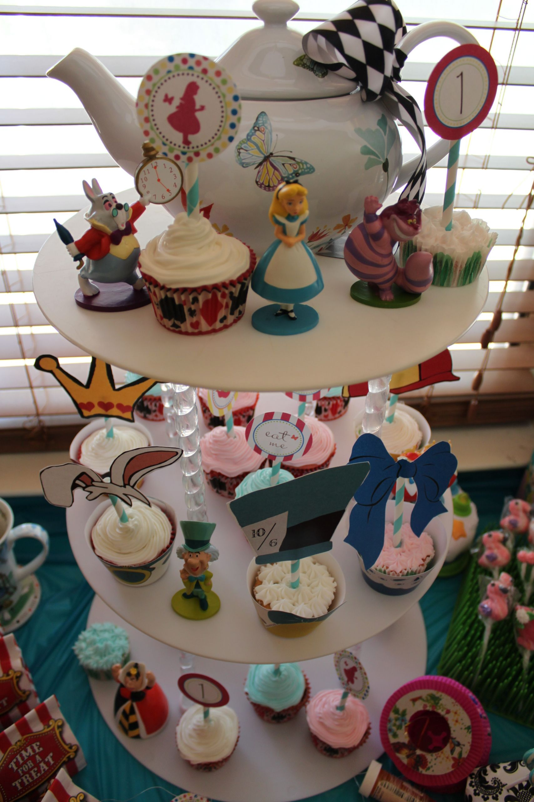 """Birthday Party Decor  e Year Old Birthday Party Alice in """" e""""derland Theme"""