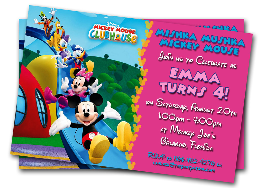 Birthday Party Invitations For Kids  Minnie Mouse Birthday Invitations Printable Custom Kids