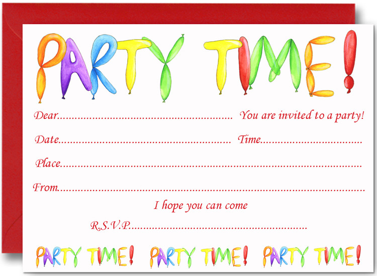 Birthday Party Invitations For Kids  FREE Birthday Party Invites for Kids – FREE Printable